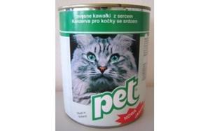 Picture of PET KATZE masové kostky se srdcem pro kočky 855 g