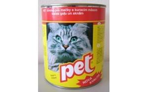 Picture of PET KATZE kostky s drůbežím masem pro kočky 855 g