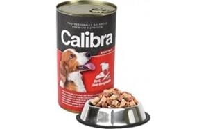 Picture of Calibra Dog konz. hovězí+játra+zelenina v želé 1240g
