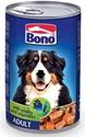 Obrázek BONO Adult konzerva pes drůbež+zelenina 1250g