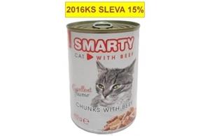 Picture of SMARTY chunks CAT 410g BEEF-hovězí