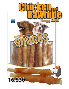 Picture of Magnum Chicken Roll on Rawhide Stick 250g