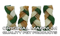 "Obrázek MAGNUM Rawhide Small braid GREEN 2,5"" 40ks"
