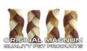 "Obrázek MAGNUM Rawhide Small braid BROWN 2,5"" 40ks"
