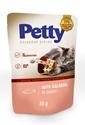 Obrázek PETTY shred kapsička s lososem v omáčce 85g