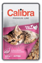 Obrázek Calibra Cat kapsa Premium Kitten Turkey & Chicken100g