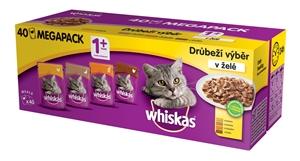 Picture of Whiskas kapsička Kousky v želé drůbež 40x100g